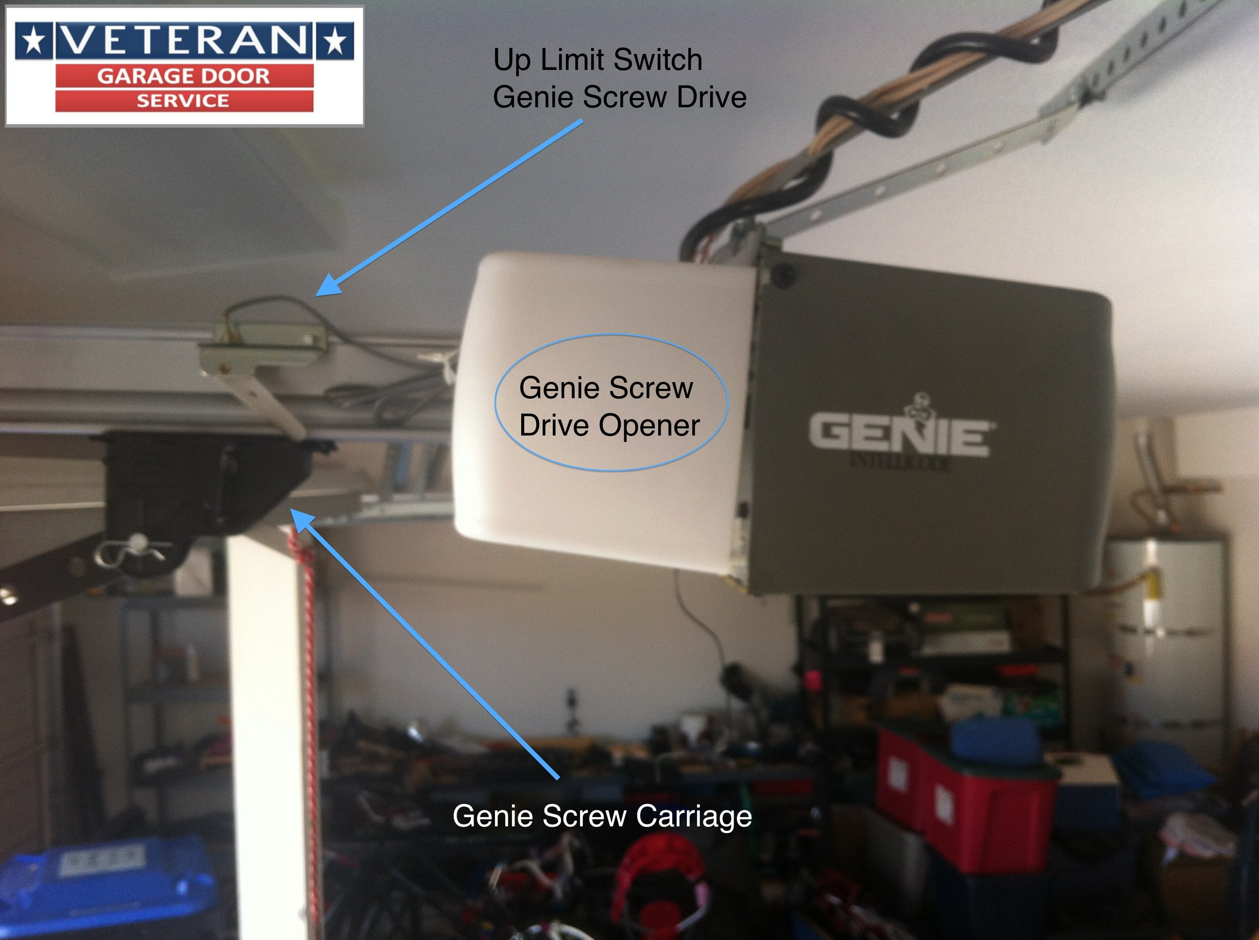 how to set genie garage door opener